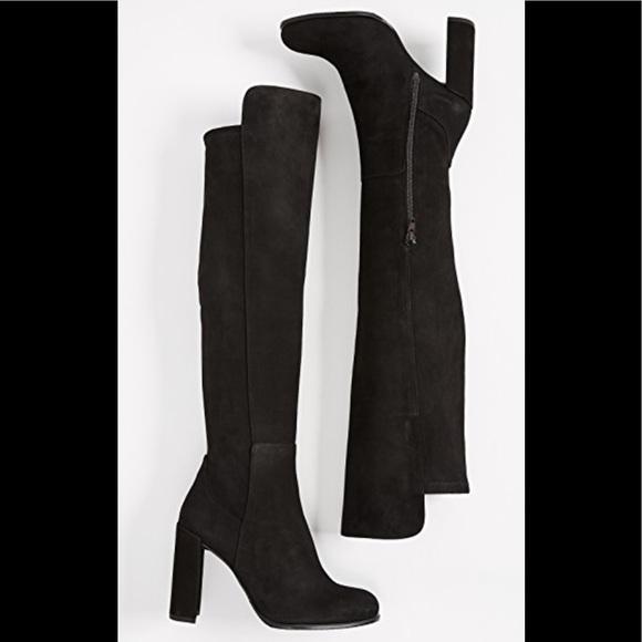 874fb078863 NWOT Stuart Weitzman Alljill boots black suede 7.5.  M 5b8ad2dc5a9d217b8103d89e